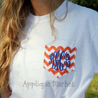Monogram Chevron Pocket Tshirt SALE