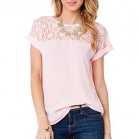 Shailene Top in Pink - ShopSosie.com