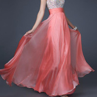 Gorgeous A-line Beaded Straps Prom Dresses