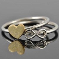infinity ring, infinity knot ring, sterling silver ring, best friend ring, promise ring,personalized ring, friendship ring, sisters ring