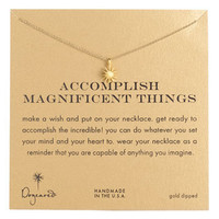 Dogeared &#x27;Accomplish Magnificent Things&#x27; Pendant Necklace | Nordstrom