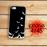 iPhone 4S Case Slim Profile Flying Sparrow Birds  /Hard Case For iPhone 4 and iPhone 4S