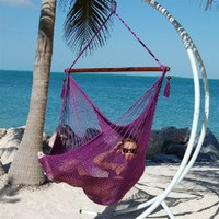 Amazon.com: Caribbean Jumbo Hammock Chair - Purple: Patio, Lawn & Garden