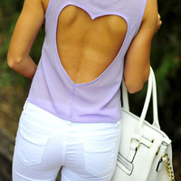 Sweetheart Crop Top: Lavender | Hope&#x27;s