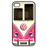 New Kawaian PINK Minivans Vans VW iPhone 4 4S Hard Case Cover Gift
