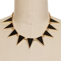 Black/Gold Triangle Necklace