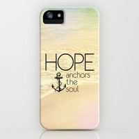 Hebrews 6:19 Hope anchors the soul iPhone Case by Pocket Fuel | Society6
