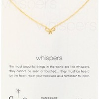 "Dogeared ""Whispers"" Silver Bow Necklace - 18"""