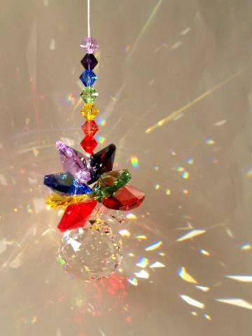 Sun Catcher RainbowCrystal Cluster by DancingRainbows on Zibbet