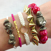 Cherry Arm Candy Bracelet Stack Set