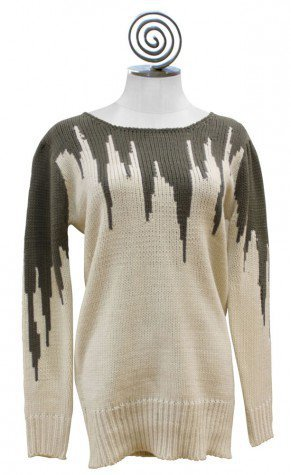 Retro Building Sweater | Artsy Closet