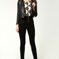 Bella Black Highwaisted Supersoft Skinny Jeans