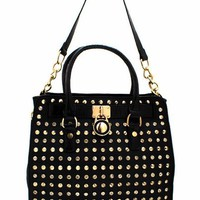 embellished-stud-bag BLACKGOLD - GoJane.com
