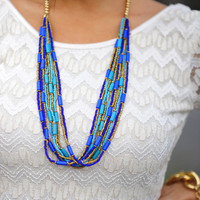 Mosaic Walkway Necklace: Turquoise | Hope&#x27;s