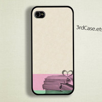 iPhone 5 Case  iPhone 4 Case iPhone 4s Case  Book with heart Case
