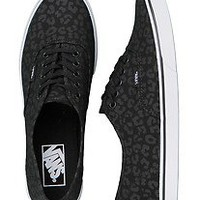 Vans Authentic Lo Pro Leopard Black/Black Women's Skate Shoes Size 8