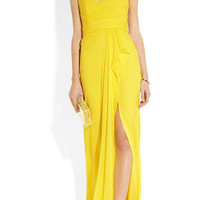 Notte by Marchesa | Strapless silk gown | NET-A-PORTER.COM