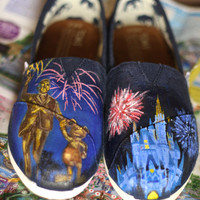 Disney TOMS &amp; Custom Toms You design them I paint them. Limited Time Low Price. NEW SHOP Limited time offer