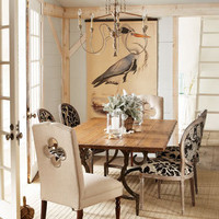 "Vanguard - ""Mason"" Dining Table and ""Burke"" & ""Phoebe"" Chairs - Horchow"