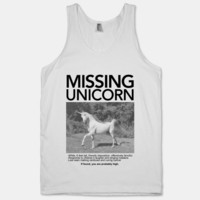 Missing Unicorn (Tank) | HUMAN