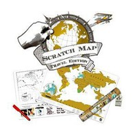 Scratch Personalized World Map Poster (Travel Edition): Home & Kitchen