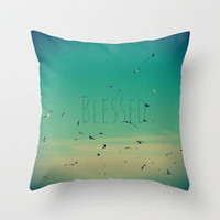 Blessed Throw Pillow by RDelean | Society6