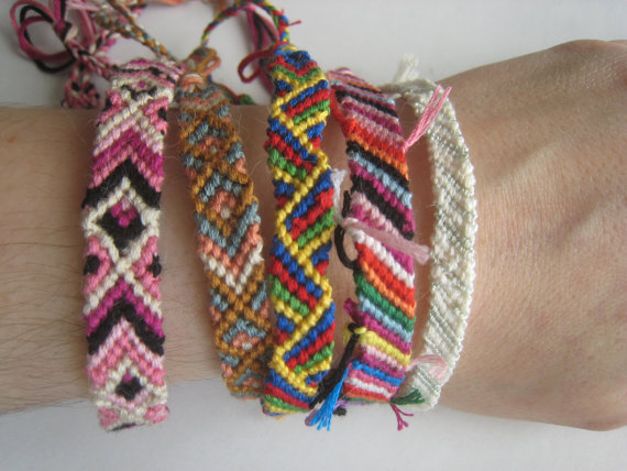 GRAB BAG of 3 Friendship Bracelets  SURPRISE  by greenyogini