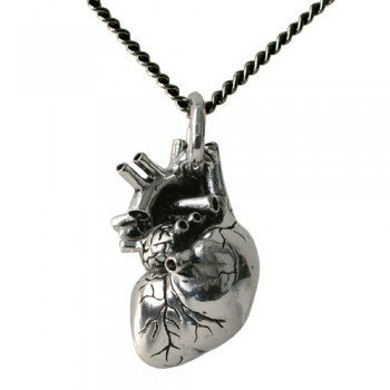 ShanaLogic.com - 100% Handmade & Independent Design! Anatomical Heart Necklace - Dark Side of Fashion