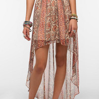 High/Low Chiffon Skirt