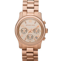Michael Kors Rose Golden Midsized Chronograph Watch - Michael Kors