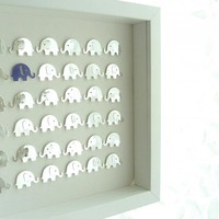Elephants Metallic Keepsake. Framed | Luulla
