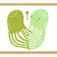 Holding Hands 5x7 print by laurageorge on Etsy