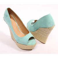 Papaya Clothing Online :: FAUX SUEDE WEDGE HEELS