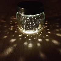 2oz. itty bitty MOON JAR  // upcycled constellation space style nightlight