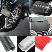 1.27M x 30cm DIY Carbon Fiber Wrap Roll Sticker For Car Auto Vehicle Detailing