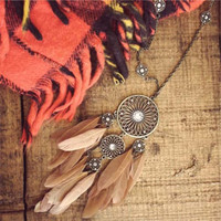 Teton Feather Necklace, Sparkling Country Jewelry
