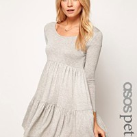 ASOS PETITE Swing Dress With Tier Detail at asos.com