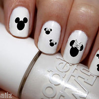 DISNEY HEADS MINNIE MOUSE NAIL ART DECAL WRAP FOR FALSE/ ACRYLIC OR REAL NAILS