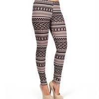 Black/Ivory Tribal Print Leggings
