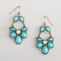 Aqua Chandelier Earrings