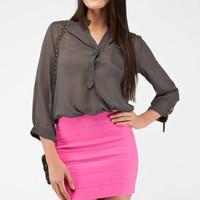 Pure and Simple Blouse in Charcoal :: tobi