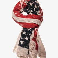 Distressed American Flag Scarf | FOREVER21 - 1035877158