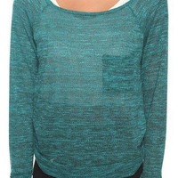 Long Sleeve Knit Top w/ Pocket | FOREVER 21 - 2000029540