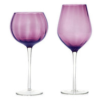 Aubergine Colored Optic Stemware | Glassware | Z Gallerie