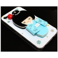 Amazon.com: 3D Unique Cute Lovely Japan Girl Bling Rhinestone Hard Case Cover iPhone 4 4S blue white: Cell Phones & Accessories