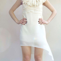 Bridesmaids dress - Bohemian style dresses - Ivory white light beige