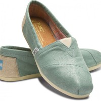 Women - Mint Metallic Linen Women&#x27;s Classics | TOMS.com