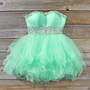 Spool Couture Mint Goddess Dress, Sweet Women&#x27;s Party Dresses