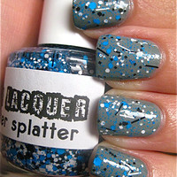 Splitter Splatter :  Custom-Blended Glitter Nail Polish / Lacquer