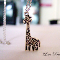 Valentine&#x27;s day gift  Cutie Giraffe Necklace for by LoLoJewelryBox